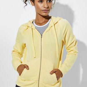 Peloton Sunstripe Yellow Hoodie Zip Up Jacket XL